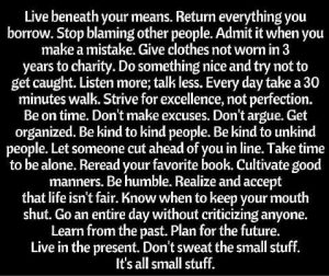 Great Rules to Live By
