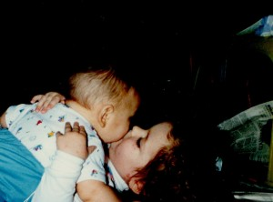Lovely Daughter loves her new brother 1999