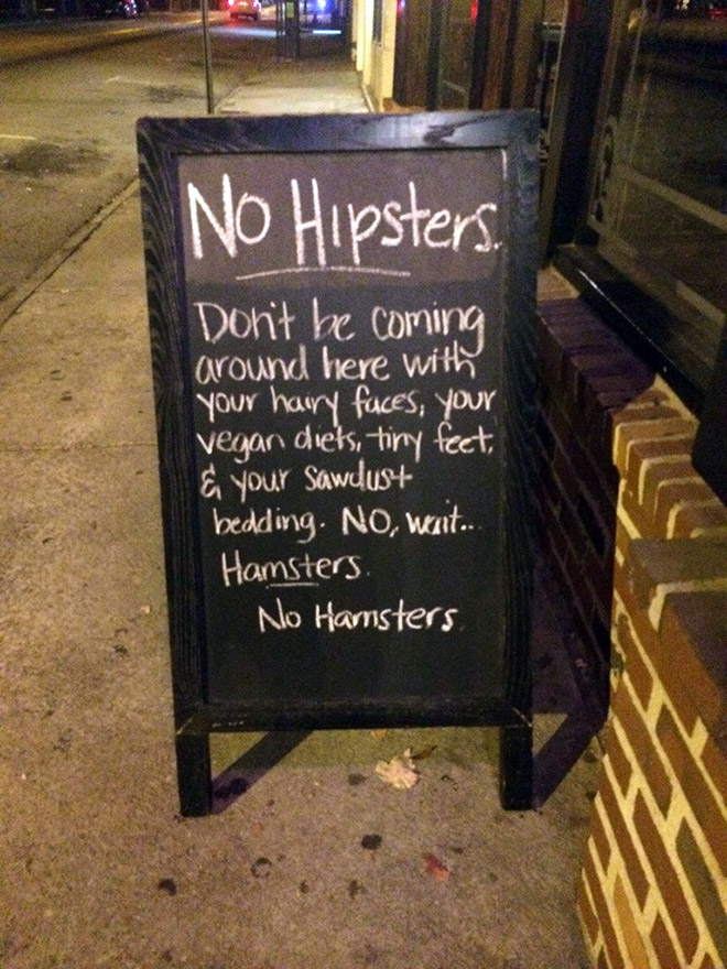 no-hipsters